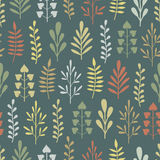 Abstract seamless pattern with plants Stock Photography