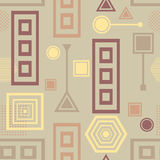 Abstract seamless pattern in postmodern Memphis Style in coffee colors Stock Image
