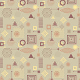 Abstract seamless pattern in postmodern Memphis Style in coffee colors Stock Photo