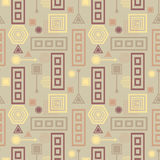 Abstract seamless pattern in postmodern Memphis Style in coffee colors Royalty Free Stock Photography