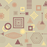 Abstract seamless pattern in postmodern Memphis Style in coffee colors Stock Photos