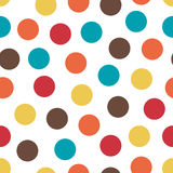 Abstract seamless pattern with randomly colored dots. Abstract background with little circles. Vector illustration. Abstract seamless pattern with randomly Stock Photos