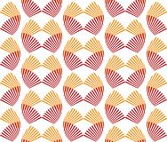 Abstract seamless pattern red and orange fan shape Japanese styl stock illustration