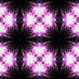 Abstract seamless pattern reminiscent of fireworks. Abstract seamless pattern with pink fireworks Stock Image