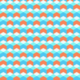 Abstract seamless pattern. Repeating geometric shapes. Vector colorful background Stock Photo