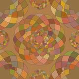 Abstract seamless pattern of the repeating mosaic elements. Royalty Free Stock Image