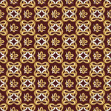 Abstract seamless pattern in retro style on the brown background Stock Images