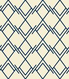 Abstract seamless pattern, rhombuses and lines, geometric backdrop. royalty free illustration