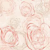 Abstract seamless pattern with scribbles Royalty Free Stock Image