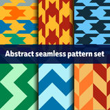 Abstract seamless pattern set. Colorful abstract seamless pattern set royalty free illustration