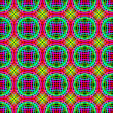 Abstract seamless Pattern of set of colorful Rings. Stock Photos
