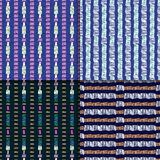 Abstract seamless pattern set Stock Photos