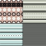 Abstract seamless pattern set Royalty Free Stock Photography