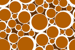 Abstract Seamless Pattern of Set of Rings Stock Images