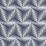 Abstract seamless pattern of silver metal shapes. Stock Image