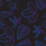 Abstract seamless pattern with simple elements Stock Photos