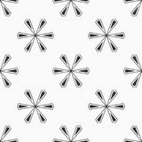 Abstract seamless pattern of six-pointed stars. Fashion flat design. Regularly repeating geometric shapes. Vector background royalty free illustration