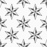 Abstract seamless pattern of six-pointed stars. Fashion design. Vector background stock illustration