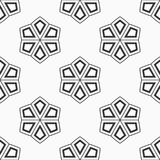 Abstract seamless pattern of six-pointed stars. Fashion flat design. Regularly repeating geometric shapes. Vector background stock illustration
