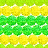 Abstract seamless pattern with small furry pompoms Stock Photo
