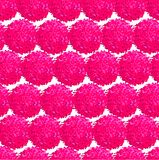 Abstract seamless pattern with small furry pompoms. Vector seamless pattern with small furry flowers or pompoms in pink bright color can be used for web, print Royalty Free Stock Image
