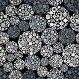 Abstract seamless pattern with snowballs. Stock Photography