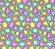 Abstract Seamless Pattern in Soft Pastel Colors Royalty Free Stock Photos