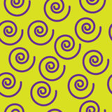 Abstract seamless pattern with spirals Stock Image