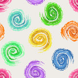 Abstract seamless pattern of spirals Stock Photography