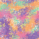 Abstract seamless pattern. Splatter brush background. Color brus Stock Photography