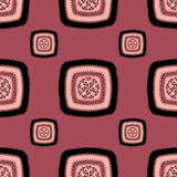 Abstract Seamless pattern with square  on pink lilac Stock Image