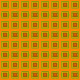 Abstract seamless pattern with squares in autumn colors Royalty Free Stock Photos