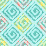 Abstract seamless pattern with squares in ethnic style. Royalty Free Stock Photography