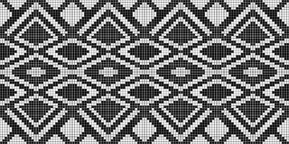 Abstract seamless pattern of squares. Geometric waves and kinks. Pattern for panels and fabrics Royalty Free Stock Photos