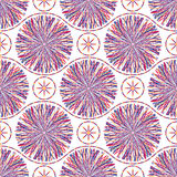 Abstract seamless pattern with striped circles Royalty Free Stock Image