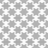 Abstract seamless pattern of striped six-pointed stars. Modern stylish texture. Regular repeating geometric shapes. Flat design. Vector background royalty free illustration