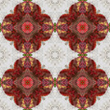 Abstract seamless pattern of stylized flowers on a white striped wooden background Royalty Free Stock Photos