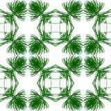 Abstract seamless pattern of stylized green and gold needles Stock Photos