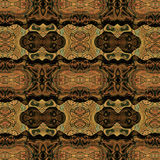 Abstract seamless pattern with stylized masks  esembling ethnic motifs Royalty Free Stock Photography