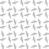 Abstract seamless  pattern with stylized thorns Royalty Free Stock Images