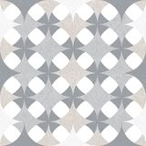 Abstract seamless pattern of superimposed geometric shapes. Rounded forms flow into each other. Royalty Free Stock Image