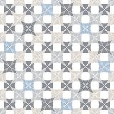 Abstract seamless pattern of superimposed geometric shapes. Rounded forms flow into each other. Stock Photography