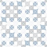Abstract seamless pattern of superimposed geometric shapes. Rounded forms flow into each other. Royalty Free Stock Photo