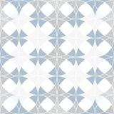 Abstract seamless pattern of superimposed geometric shapes. Rounded forms flow into each other. Royalty Free Stock Photos