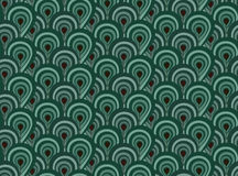 Abstract seamless pattern with surreal forest Royalty Free Stock Image