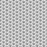 Abstract seamless pattern with swirls on a white background. Victory seamless abstract pattern geometric mesh. Useful for wrapping, web backgrounds and fabric Royalty Free Stock Photography