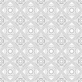 Abstract seamless pattern with symmetric geometric ornament. Royalty Free Stock Photography