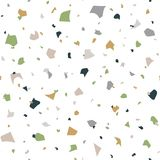Abstract seamless pattern in terrazzo style. royalty free illustration
