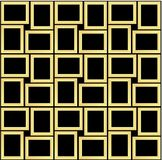 Abstract seamless pattern texture of golden rectangular frames over black background template Vector illustration. Computer graphic design cartoon illustration stock illustration