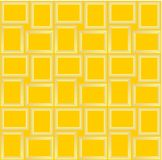 Abstract seamless pattern texture of golden rectangular frames over pale yellow background template Vector illustration. Computer graphic design cartoon vector illustration